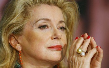"French actress Catherine Deneuve during the press conference for the film ""Un Conte De Noel,"" during the 61st International film festival in Cannes, southern France, on Friday, May 16, 2008. (AP Photo/Francois Mori)"