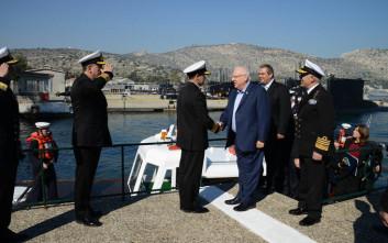 Ο Πρόεδρος του Ισραήλ στο ναύσταθμο Σαλαμίνας
