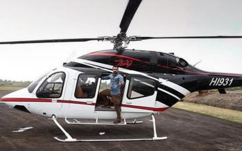 Ο Σάκης Τανιμανίδης στο ελικόπτερο, έτοιμος για το Survivor
