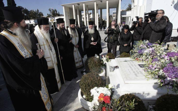 Τρισάγιο στη μνήμη του μακαριστού αρχιεπισκόπου Χριστόδουλου από τον Ιερώνυμο