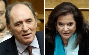 Ανέβηκαν οι τόνοι στη Βουλή μεταξύ Σταθάκη και Μπακογιάννη