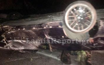 Σοβαρό τροχαίο τα μεσάνυχτα έξω από τη Λαμία με δύο τραυματίες