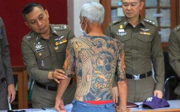 Καταζητούμενος «νονός» της Γιακούζα συνελήφθη όταν τα τατουάζ του έγιναν viral
