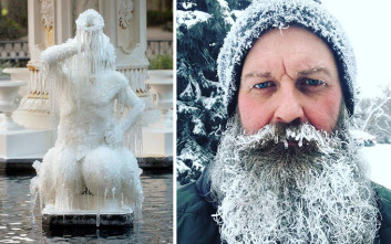 Εικόνες που μαρτυρούν πολύ κρύο