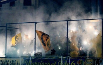 Δικογραφία για τους πυρσούς στο γήπεδο του Παναιτωλικού