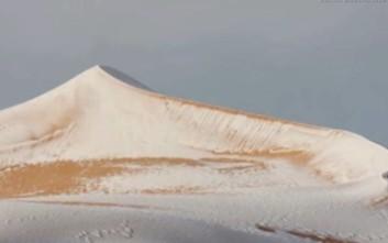 Το χιόνι επέστρεψε στη Σαχάρα ακόμα πιο πυκνό