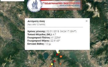 Νέος σεισμός στο Κιλκίς αισθητός και στη Θεσσαλονίκη