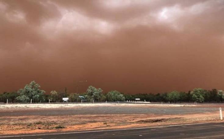 Ορατότης μηδέν λόγω αμμοθύελλας στην Αυστραλία