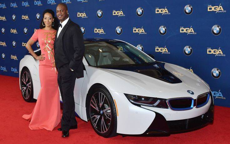 BEVERLY HILLS, CA - FEBRUARY 03:  Actors Betty Gabriel (L) and Marcus Henderson arrive in a BMW to the 70th Annual Directors Guild of America Awards at at The Beverly Hilton Hotel on February 3, 2018 in Beverly Hills, California.  (Photo by Stefanie Keenan/Getty Images for BMW)