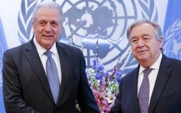 Συζήτηση Αβραμόπουλου με την ηγεσία του ΟΗΕ για μετανάστευση και ασφάλεια
