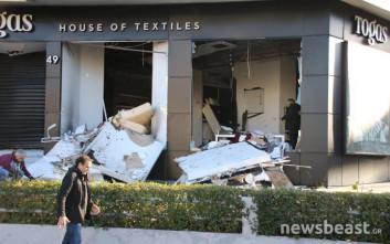 Εικόνες από το κατάστημα στη Γλυφάδα που σημειώθηκε έκρηξη