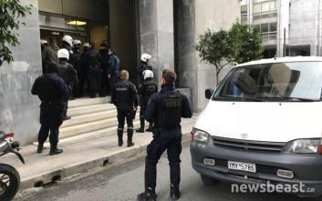 Διαμαρτυρία στην Τράπεζα της Ελλάδος για τους πλειστηριασμούς