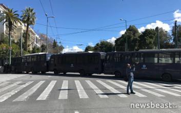Κλειστοί δρόμοι στο κέντρο της Αθήνας λόγω κινητοποιήσεων