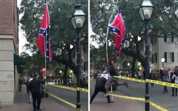 Σκότωσαν μαύρο ακτιβιστή που είχε αποπειραθεί να αρπάξει σημαία της Συνομοσπονδίας