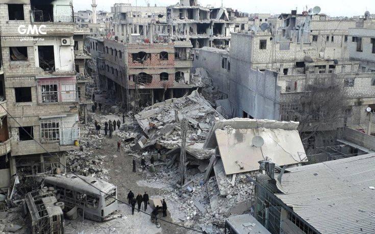 Εκατοντάδες οι άμαχοι νεκροί μέσα σε επτά ημέρες στη Γούτα της Συρίας