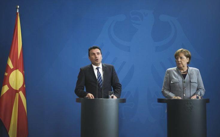 «Μακεδονία» αποκάλεσε η Μέρκελ την ΠΓΔΜ στη συνέντευξη με τον Ζάεφ