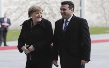 «Ιστορική στιγμή η επίσκεψη Τσίπρα στα Σκόπια», εκτίμησαν Μέρκελ και Ζάεφ