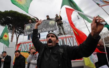 Διαμαρτυρία με ένα τραυματία στη Ρώμη για την επίσκεψη Ερντογάν