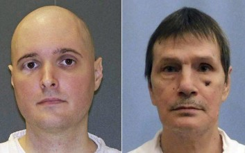 This photo combo shows death row immates, from left,  Thomas Whitaker from Texas, Doyle Lee Hamm from Alabama, and Eric Scott Branch from Florida. Executions are set for Alabama, Texas and Florida for the same night. If they are carried out as scheduled Thursday, Feb. 22, 2018,  it would mark the first time in more than eight years that three convicted killers were put to death in the U.S. on the same day.(AP Photo/File)