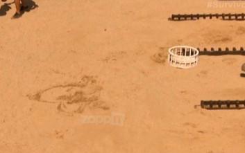 Η αφιέρωση της Κατερίνας Δαλάκα στην άμμο μετά τη νίκη της