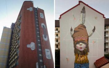 Γκράφιτι που δεν γίνεται να μην τα προσέξεις