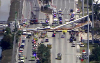 Έως και 10 οι νεκροί από την κατάρρευση πεζογέφυρας στο Μαϊάμι