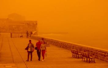 Σε κλοιό αφρικανικής σκόνης από το απόγευμα η Κρήτη