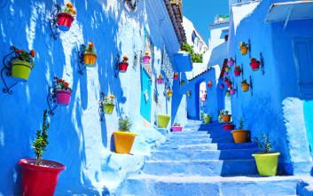 Ειδυλλιακές εικόνες στη μπλε γωνιά του Μαρόκου