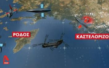 Τουρκικά μαχητικά παρενόχλησαν το ελικόπτερο που μετέφερε τον αρχηγό ΓΕΣ