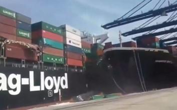 Πελώρια πλοία συγκρούονται και η εικόνα κόβει την ανάσα