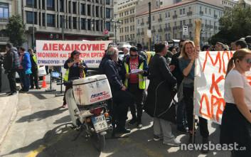 Βγήκαν στους δρόμους οι συμβασιούχοι των ΟΤΑ