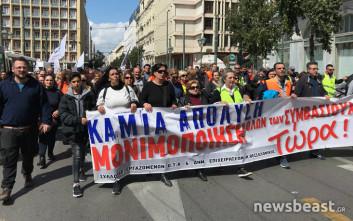 Πορεία προς τη Βουλή από τους συμβασιούχους των ΟΤΑ