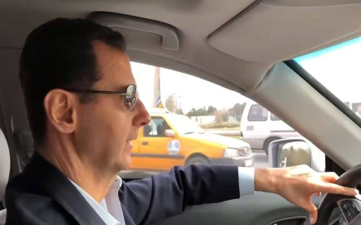 Ο Άσαντ πήρε το αυτοκίνητό του και έκανε… βόλτες στην ισοπεδωμένη Γούτα