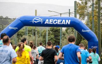 Η AEGEAN βρέθηκε κοντά σε περισσότερους από 21.000 δρομείς στον 7ο Ημιμαραθώνιο Αθήνας