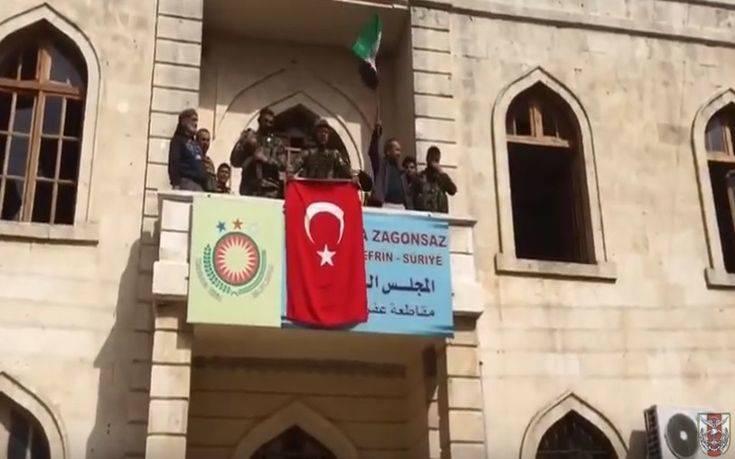 Βίντεο του τουρκικού στρατού από το κέντρο του Αφρίν