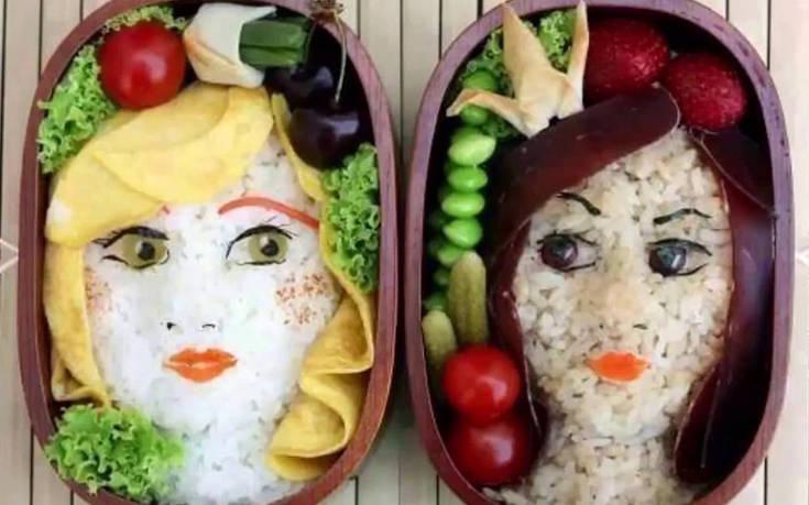 Φαγητά και γλυκά που σερβίρονται με αρκετή φαντασία