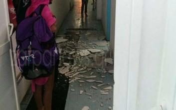 Έπεσε τμήμα στέγης στο κολυμβητήριο Νέας Χώρας στα Χανιά