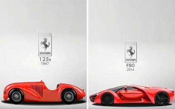 Η Ferrari τότε και τώρα μέσα σε έξι λεπτά