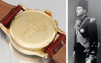 Στο σφυρί το σπάνιο χρυσό ρολόι του βασιλιά της Αιγύπτου Φαρούκ