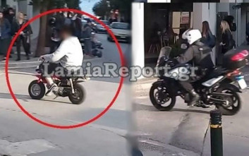 Η τρελή βόλτα με το μηχανάκι στο κέντρο της Λαμίας του κόστισε 10.000 ευρώ