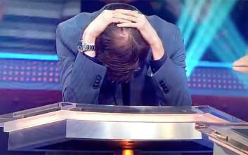 Παίκτης του «Εκατομμυριούχου» με υπερβολική αυτοπεποίθηση τα έκανε μαντάρα στην πρώτη ερώτηση