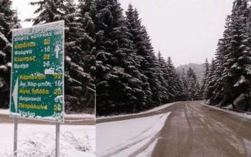Καλημέρα με... χιόνια στην Ευρυτανία