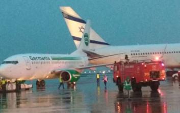 Σύγκρουση δύο αεροσκαφών στην πίστα του αεροδρομίου του Τελ Αβίβ