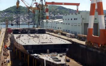 Η εντυπωσιακή κατασκευή ενός κρουαζιερόπλοιου σε οκτώ λεπτά