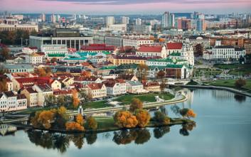 Γραφικές εικόνες στην πρωτεύουσα της Λευκορωσίας