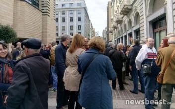 Ξανά στους δρόμους εργαζόμενοι και συνταξιούχοι της Εθνικής Τράπεζας