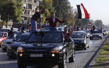 Βγήκαν στους δρόμους στη Δαμασκό