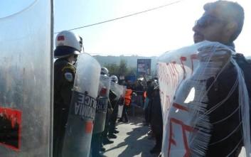 «Υποδοχή» Τσίπρα στη Μυτιλήνη με συλλαλητήριο