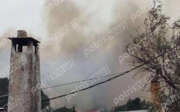 Μεγάλη πυρκαγιά στη Φρίξα Κρεστένων