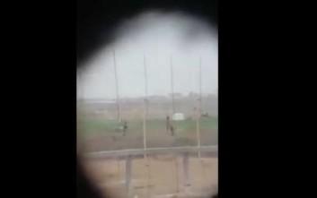 Σάλος με βίντεο που τράβηξε ελεύθερος σκοπευτής ενώ πυροβολούσε άοπλο Παλαιστίνιο